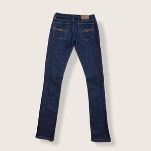 Nudie Jeans Womens Tight Long John Blue Denim